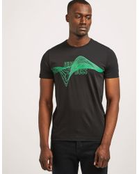 BOSS by Hugo Boss Green Helix Print Short Sleeve T-shirt - Black