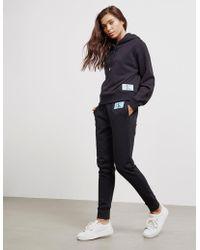 Calvin Klein - Womens Logo Hoodie Black - Lyst