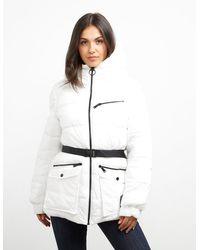 DKNY Belt Padded Jacket White