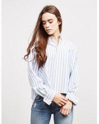 Polo Ralph Lauren Crop Long Sleeve Shirt Blue