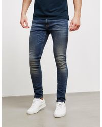 Nudie Jeans - Mens Skinny Lin Jeans Blue - Lyst