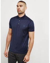Polo Ralph Lauren - Mens Mercerised Short Sleeve Polo Shirt Navy Blue - Lyst