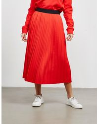HUGO Pleated Skirt Red