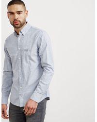 BOSS - Mens E-preppy Long Sleeve Shirt Navy Blue - Lyst