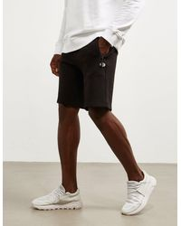 Armani Exchange Basic Fleece Shorts Black