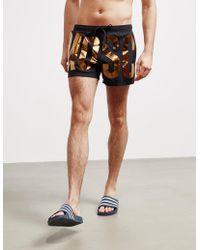 Moschino - Foil Swim Shorts Black - Lyst
