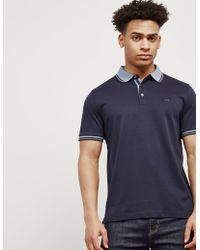 Michael Kors - Mens Greenwich Short Sleeve Polo Shirt Navy Blue - Lyst