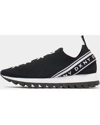 DKNY Knit Slip On Sneakers Black
