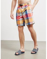 Fred Perry - Check Swim Shorts Multi - Lyst