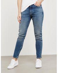 Calvin Klein - Womens 020 Slim Jeans Blue - Lyst