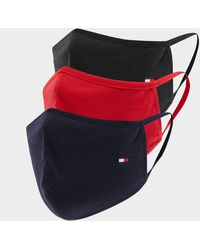 Tommy Hilfiger 3-pack Face Coverings - Red