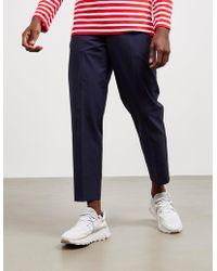Maison Kitsuné Drawstring Pants Navy Blue