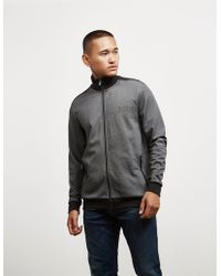 BOSS - Mens Poly Pique Track Top Black - Lyst