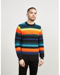 PS by Paul Smith Stripe Mohair Knit Jumper Multicoloured
