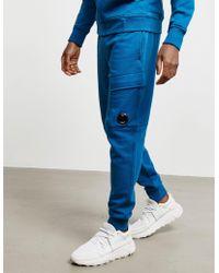 C P Company Lens Track Pants Blue