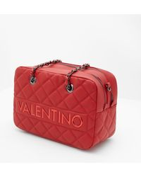 Valentino By Mario Valentino - Licia Quilted Shoulder Bag Red - Lyst
