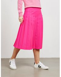 MSGM Pleated Skirt Pink