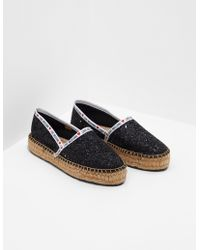 Love Moschino Tape Sequin Espadrilles Black