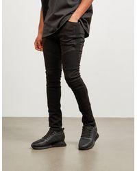 Represent Biker Skinny Jeans - Exclusive Black
