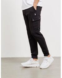 Polo Ralph Lauren Fleece Cargo Track Pants - Black
