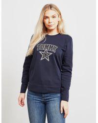 Tommy Hilfiger - Womens Haley Sweatshirt Navy Blue - Lyst