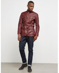 Belstaff - Mens Roadmaster Jacket Red - Lyst