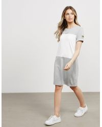 Barbour - Womens International Contrast Dress - Online Exclusive Grey/white - Lyst