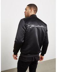 Blood Brother Logo Reversible Bomber Jacket Black