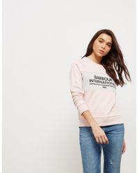 Barbour - Womens International Triple Sweatshirt Pink - Lyst
