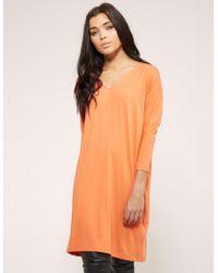 Ilse Jacobsen - Womens 3/4 Sleeve T-shirt Jersey Tunic Orange - Lyst