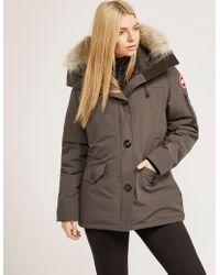 Canada Goose - Womens Montebello Padded Parka Jacket Grey - Lyst