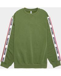 Moschino Arm Tape Crew Neck Sweatshirt - Green