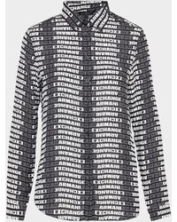 Armani Exchange Print Logo Shirt - Black