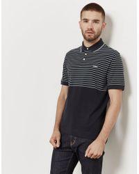 Z Zegna - Mens Stripe Short Sleeve Polo Shirt Navy Blue - Lyst