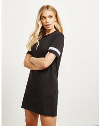 Calvin Klein Tape T-shirt Dress Black