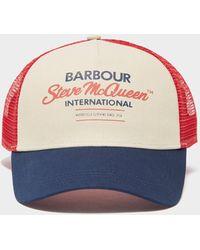 Barbour Steve Mcqueen Trucker Cap Blue