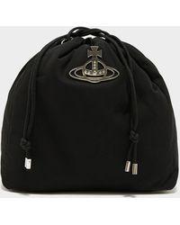 Vivienne Westwood Hilary Nylon Bucket Bag - Black