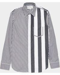 Maison Margiela Stripe Long Sleeve Shirt White/black