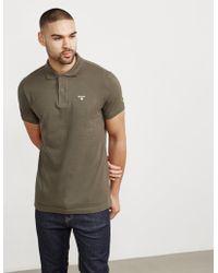Barbour - Mens Pique Short Sleeve Polo Shirt Green - Lyst