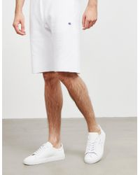 Champion - Basic Fleece Shorts White - Lyst