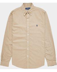 Polo Ralph Lauren Dyed Long Sleeve Oxford Shirt - Brown