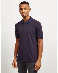 Calvin Klein Camouflage Collar Short Sleeve Polo Shirt Navy Blue