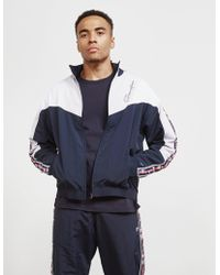 Champion Tape Block Color Track Top - Online Exclusive Navy Blue