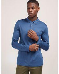 Michael Kors - Mens Sleek Long Sleeve Polo Shirt Blue - Lyst
