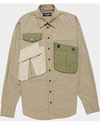 DSquared² Military Long Sleeve Shirt Olive/olive - Green