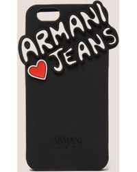 Armani Jeans - Womens Logo Iphone 6 Phone Case Black - Lyst