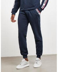 Moschino Tape Track Pants Navy Blue