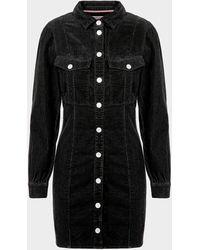 Tommy Hilfiger Denim Shirt Dress Black