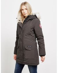 76107cb3b24 Canada Goose Trillium Padded Parka Jacket Navy Blue in Blue - Save 7 ...