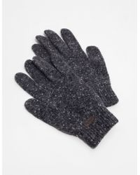 Barbour - Mens Donegall Gloves - Online Exclusive Charcoal/charcoal - Lyst